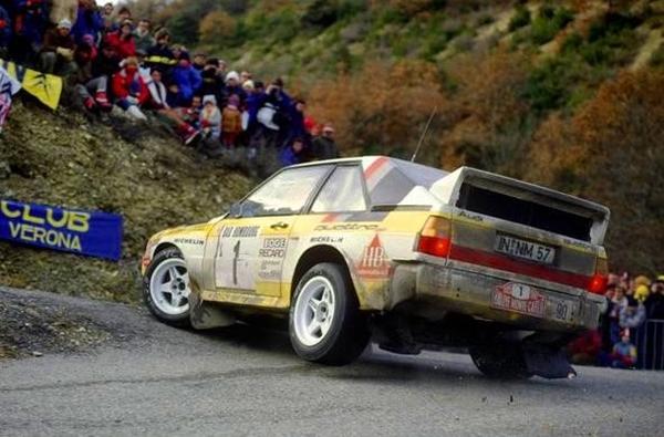 Audi derrapando montecarlo Stig Blomqvist