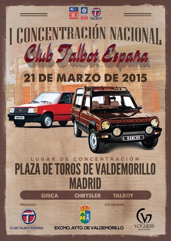 Concentración nacional del Club Talbot España