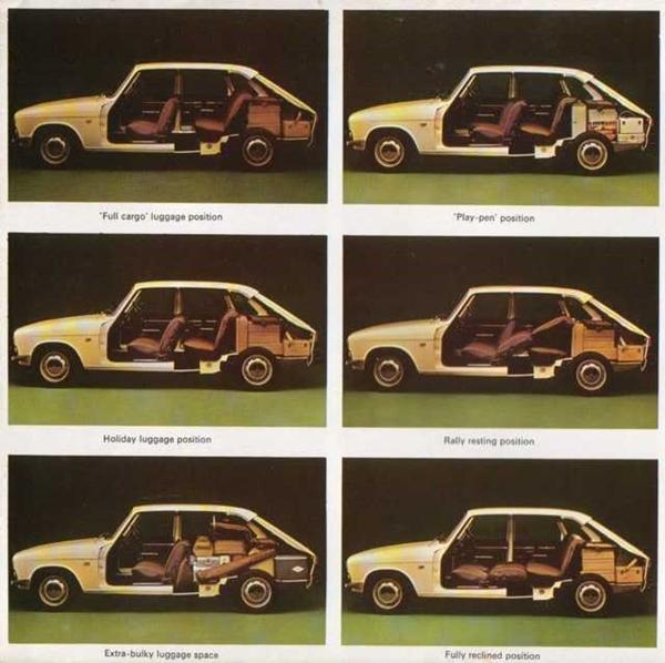 Renault 16 respaldo abatible