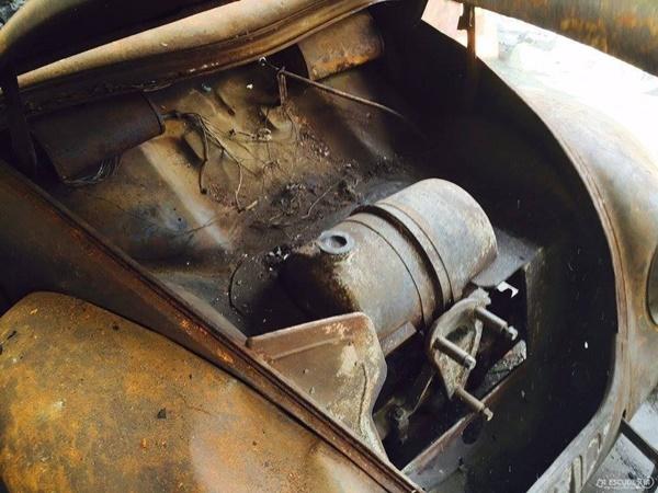 El característico depósito de gasolina de las primeras unidades